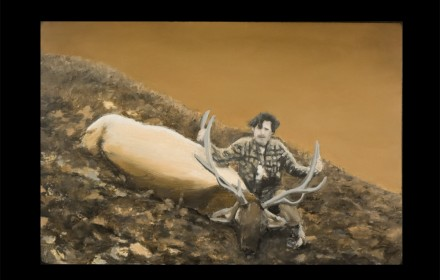 """Don's Elk"" 2009: mixed media, oil on canvas"